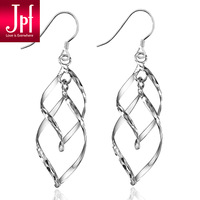 Jpf noble elegant givlie brief 925 pure silver earrings anti-allergic birthday gift
