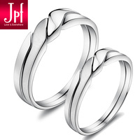 Jpf 925 pure silver lovers ring female pure silver lovers ring lettering