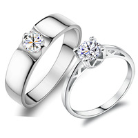 Romantic wedding ring jpf female lovers ring male wedding ring 925 pure silver jewelry birthday gifts