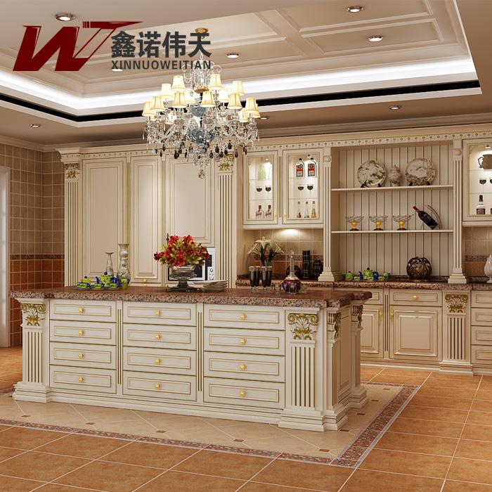 Wood modular kitchen cabinet luxury fashion royal kitchen cabinet