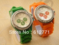 GENEVA ladies watch, diamond watches, silicone watches, wholesale.