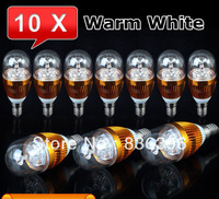 10pcs E14 E27 LED Light High Power Energy Saving Round Candle Bulb Lamps 6w 8w 9w 12w