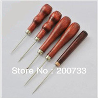 Free shipping handwork awl set wooden handle drills DIY tools set 5pcs/set