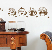 Coffee kitchen cabinet decoration waterproof diy stickers wall stickers t531