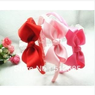 {Min.Order $15} 10pcs/Lot 2013 New Kids/Girl/Princess/Baby Pure Color Bowknot Sweet HeadBand/Hair Accessories(China (Mainland))