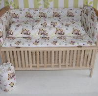 Quality 100% cotton baby bedding kit cotton 100% unpick and wash 100% cotton flower quilt piece set bedding