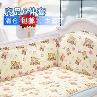 Baby bed around baby bedding 100% cotton kit child bed around baby cotton 100% six pieces bedding set