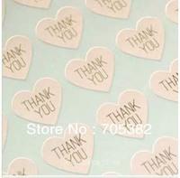 THANK YOU heart design Sticker Labels Seals.Sie: 3.8cm, Seal sticker (SS-7132)