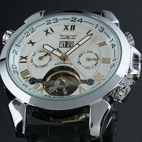 Free shipping 2013 TOP BRAND Men's Luxury  watch new fashion jaragar watch Auto Mechanical Date Tourbillon Mens Wrist Watch