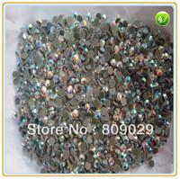 Wholesale - 2 bags (2880pcs) ss10 (3mm) CRYSTAL AB color flat back DMC glass rhinestone hotfix dmc rhienstone
