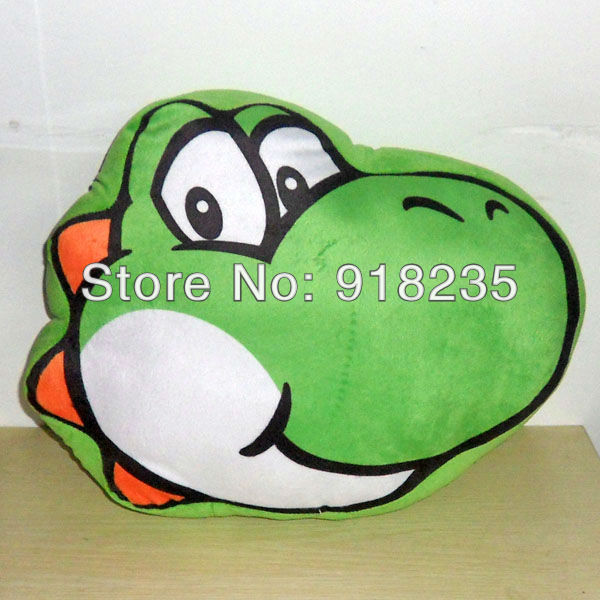 "Free Shipping EMS 50/Lot New Cute Super Mario Bros Yoshi Cushion Pillow Plush Bolster Toy Figure 15"" Wholesale(China (Mainland))"