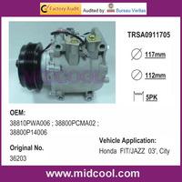 High Quality Honda FIT / JAZZ 03' Air Conditioning A/C Compressor 38810PWA006 ; 38800PCMA02 ; 38800P14006