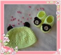 Baby hat baby shoes baby shoes cap set cartoon cap cartoon shoes