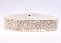 Free shipping 2.4'' wide 2013 new design famous brand ladies dress wide belts / elastic belts / stretch belts- detail/wholesale