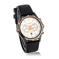 CURREN 8066 curren watches men Round Dial PU Leather Band Men's Wrist Watch with Calendar
