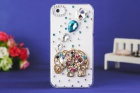 New Fashion Hot sale Elephant and Gosling Hard Back Cover Skin Case For Iphone4 Wholesale