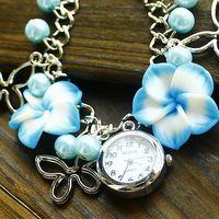 Hot Free shipping wholesale clay bracelet watches women fashion hot sale dropship