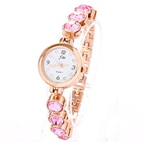 Hot Watch Crystal Rhinestone Dropship Fashion Charm Style Rose Gold Plated Bracelet Watches For Women Ladies Free Shipping