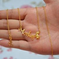 High artificial gold zodiac monkey necklace alluvial gold necklace gold plated necklace female
