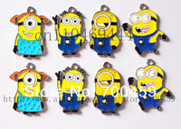 Wholesale New  500Pcs Despicable me Metal Charms pendants DIY Jewellery Making crafts
