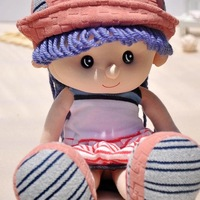 Yuppies dolls pure little girl doll cloth dolls plush toy birthday