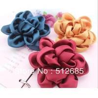 {Min.Order $15} 10pcs/Lot 10.5CM Silk Flower Semi-Part  For Hair Accessories/Garment/Jewelry/Bags/Shoes/Hats DIY