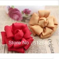 {Min.Order $15} 10pcs/Lot 7CM Silk Flower Semi-Part  For Hair Accessories/Garment/Jewelry/Bags/Shoes/Hats DIY