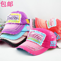 9.9 summer rhinestone letter women's baseball cap hat shopping autumn cap hat