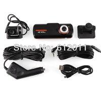 Free Shipping Allwinner A10 CUP 2.7' LCD Full HD1080p F90 Dual Lens Car DVR Camera G-Sensor 20FPS WITH HDMI External Camera