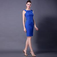 Women's  women work wear Elegant Vintage Fashion Slim fit Summer dress  Patchwork bodycon pullovers One-Piece Dress