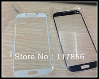 50pcs/lot For samsung Galaxy S4 i9500  screen Cover front Glass lens Replacement Repair Parts black white DHL ship
