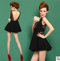 2072 2013 racerback lacing lace one-piece dress