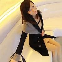 2013 autumn women's slim cloak woolen outerwear autumn and winter trench woolen overcoat