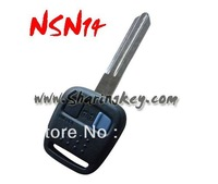 Free shipping Nissan 2 Button key shell NSN14 blade