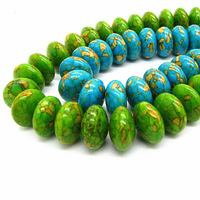 16mm 46pcs Fashion Abacus Shape Natural Turquoise Stone Loose Beads for DIY Jewelry Findings Free Shipping HC132