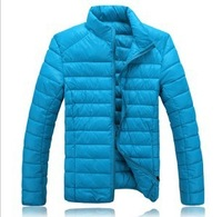 Hot-selling Men Winter coat Lovers Cool Pure Color wadded jacket  Zipper  waterproof jacket Plus size M L -4XL Free Shipping