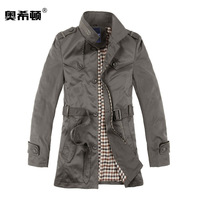 SALE Male Slim Medium-long 2013 Autumn And Winter New Style Fashionable Casual Men's Clothing Outerwear Men's Trench Coat