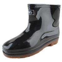 Warrior single tier plus cotton boots Men waterproof shoes short fishing shoes thermal boots rubber shoes rainboots rain shoes