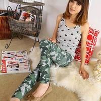 Spring and summer plus size denim seamless ultra elastic ankle length legging military female