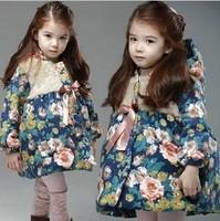 1 Set Retail baby girl hoodies,Girls jackets,children's winter coat,outerwear & coats, children warm coat in winter