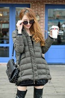 New arrival medium-long with a hood down coat thickening winter thermal outerwear