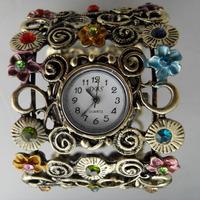 2013 new Fashion Quartz Retro Rhinestone Alloy Ladies Womens bracelet Wrist  watch Free shipping!!!