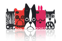 Free Shipping Fashion brand MARC animals silicon/cartoon/bunny/Jungle Dogs phone cases for iphone 5 5s Jacobs Back cover