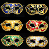 Halloween party mask croons bronzier applique mask 31g