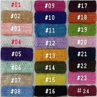 12pcs/lot,Newborn Infant baby girls Elastic Crochet knit Headbands Girl bow Hair jewelry Accessary, hairband wholesale,