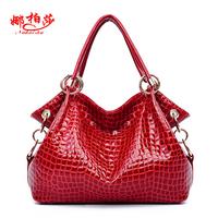 Bertha women's genuine leather handbag 2013 bags crocodile pattern cowhide shoulder bag cross-body women's big bag