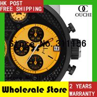 DZ7234 Eye-catching Bright Yellow Orange Christmas Gift 2014 New Fashion Men Casual Quartz Watch Mens Sports Wrist Watches 821YM