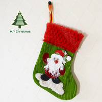 The latest Indoor Christmas socks Decoration colorful Santa Claus Snowman Deer