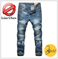 Size:28-36#KPR0926,Free Shipping,2013 Fashion Brand Men Jeans,Dark Color Low Waist Slim Casual Zipper Ripped Denim Pants
