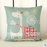 Hot !!!High Personality Cotton Linen Printed  pillow cover sofa cushion cover car cushion 45*45cm